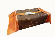 TISSUE BOX COVER HOLDER PAPER CASE HOME DECOR EMBROIDER THAI SILK ELEPHANT