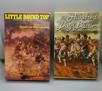HUNDRED DAYS BATTLES 1983 / LITTLE ROUND TOP 1982 AVALON HILL UNPUNCHED