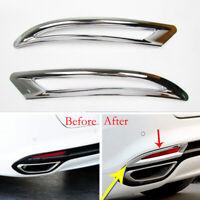 Car Rear Tail Fog Light Lamp Chrome Cover Trim Fit For Ford Fusion 2013-15 2PCS