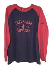 Reebok Mens XL Long Sleeve Shirt Cleveland Cavaliers Embroidered Sleeve Logo