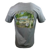 "Paradise Found Men's T-shirt ""Island Shores"" - Bahama Beach Vacation Relax NWT"