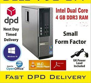 DELL Optiplex 390 SFF Intel Dual Core 4GB RAM 320GB HDD Win-10 Small Desktop PC