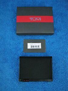 Tumi Mens Alpha SLG Black RFID L-Fold ID Window Wallet w/Tags & Box - New !