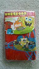 NEW Spongebob Squarepants Underoos Graphic T-Shirt Boxer Brief Underwear Set 6-8