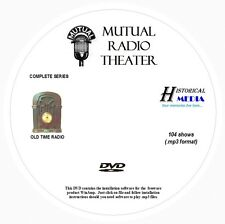 MUTUAL RADIO THEATER - 104 Shows Old Time Radio In MP3 Format OTR On 1 DVD