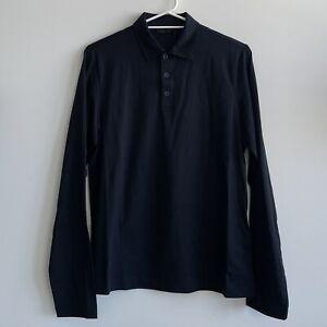 100% Authentic BNWT Prada Mens Navy Long Sleeve Polo Shirt - Size M