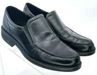 Ecco Loafer Men's EUR Sz 41 US 7-7.5 Black Leather Apron Split Toe Shoe Portugal