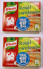 2x Knorr Beef Stock Cubes, Preservatives Free