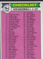 1979 TOPPS BASEBALL CHECKLIST #121 UNMARKED EXMT *56103