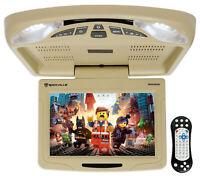 "Rockville RVD12HD-BG 12"" Beige Flip Down Car Monitor DVD/USB/SD Player + Games"