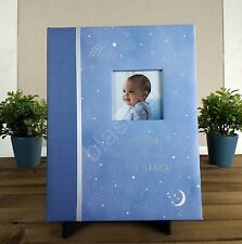 New Carters Blue Wish Upon A Star Baby Gender Neutral Memory Keepsake Book Moon