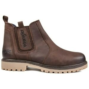 WRANGLER Mens Yuma Chelsea Boots Brown