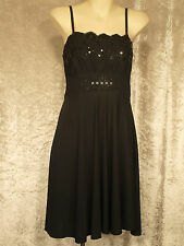 Little Black Dress with Lace & Sequin Bodice Formal Teenage Leavers Party Frock