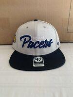 Indiana Pacers NBA '47 Brand Gray Street Script Captain Adjustable Snapback Hat
