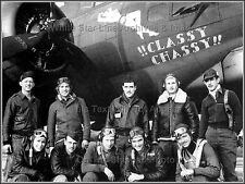 Photo: Nose Art: !!CLASSY CHASSY!!: B-17 Bomber, With Crew: 388 Bomb Group, WWII