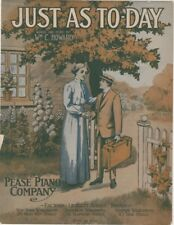 Just As To-Day, Pease Piano Co. Give-Away, 1914, 2nd offered vintage sheet music