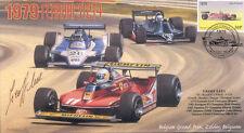 1979 FERRARI LIGIER-COSWORTH TYRRELL-COSWORTH F1 cover signed GEOFF LEES