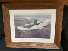 USS Nautilus Print Framed With Brass Plaque Desciption
