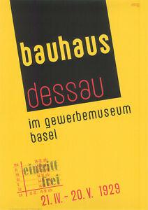 Plakat -  Bauhaus Dessau im Gewerbemuseum Basel / Nr. 102