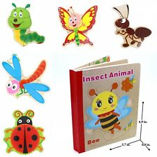 Kids Toy Book Puzzle for Toddler Educational Early Learning Toy- Insects 2 book