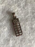 925 Silver Pendant Celtic Design 1980s Vintage Jewellery Jewelry Retro Old