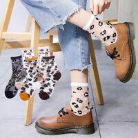 Women Girls Summer Transparent Socks Leopard Print Grain Fashion Casual Socks