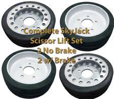 Set of 4 Skyjack SJIII SJ 3219 3015 3215 Tires Wheels NM 158438 158439 108020