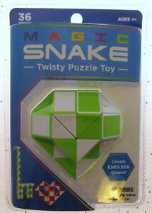 Magic Snake Green Twisty Puzzle Nostalgic Toy Create Endless Shapes