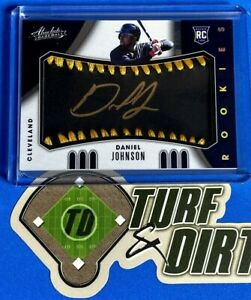 2021 Absolute RC Baseball Material Auto Black Gold #105 DANIEL JOHNSON RC #23/25