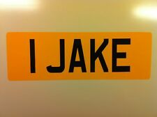 FUN VINYL STICK ON NUMBER PLATE WITH YOUR NAMEToys Car