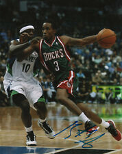 Brandon Jennings Milwaukee Bucks SIGNED 8x10 Photo COA!