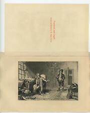 ANTIQUE TOUCHWOOD CARGILL GLOBE CAT DRINKING LIBRARY BOOKS SUN WINDOW ART PRINT