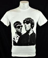 L/N White T-Shirt Liam Noel Gallagher Retro 100% cotton Rock punk L