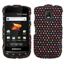 For Samsung Galaxy S Aviator Crystal Diamond BLING Case Phone Cover Rainbow Dots