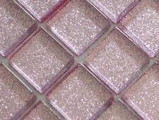 Sample Glitter Light Pink Glass Mosaic Tile
