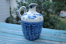 Delft blue and white mini jug,creamer,Amsterdam,Holland,hand painted,P. Hoppe