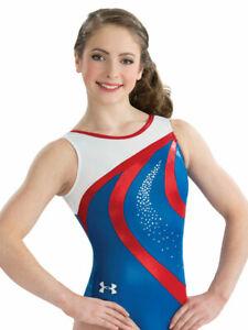 NWT 6315 Timeless Under Armour ™ GK gymnastic leotard Sequinz Free Scrunchie AXL