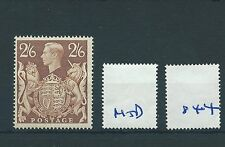 wbc. - GB - GEORGE V1 - G844- 1939 -  2/6d BROWN - HIGH VALUE - mounted mint