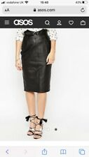 ASOS Utility D Ring Belt Leather Pencil Skirt Size 10