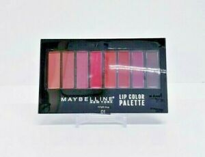 2pc  MAYBELLINE NewYork Lip Color Palette 01 NUDE TO WINE (8 shades)