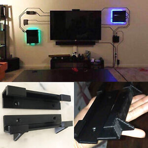 2PC Wall Mount Bracket Holder Stand for Playstation 4 PS4 Slim Pro Game Console