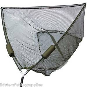 "50"" Inch Large Carp Pike Fishing Landing Net With dual 2 Net Floats NGT Tackle"