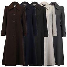 De La Crème - Women's Spring/Summer Jacket Ladies Single Breasted Long Mac Coat
