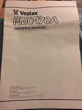 Vestax Pmc-170a Owner's Manual