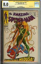 Amazing Spider-Man #62 8.0 SS Signed Stan Lee John Romita