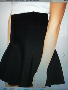 Whistles Skirt Black Knitted SkaterBrand New with tags size Large UK14 RR £115//