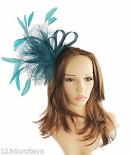 Teal Green Fascinator for Ascot, Weddings, Proms, Derby, Formal Events C4