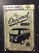 Volkswagen Split Screen Metal POSTCARD VintageTin Signs THE ORIGINAL RIDE