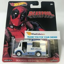 SALE!  Deadpool Ice Cream Truck * 2019 Hot Wheels Premium Retro Case N * Y22
