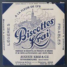 Buvard BISCOTTES KRAI A la Fleur de Lys Strasbourg Bas-Rhin blotter 2